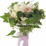 Свадебный букет из белых орхидей